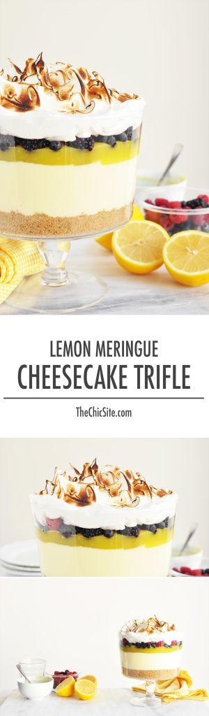 Lemon Meringue Cheesecake Trifle