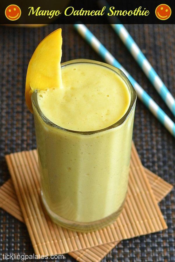 Mango Oatmeal Breakfast Smoothie Recipe