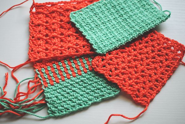 4 decorative crochet stitches for you to try