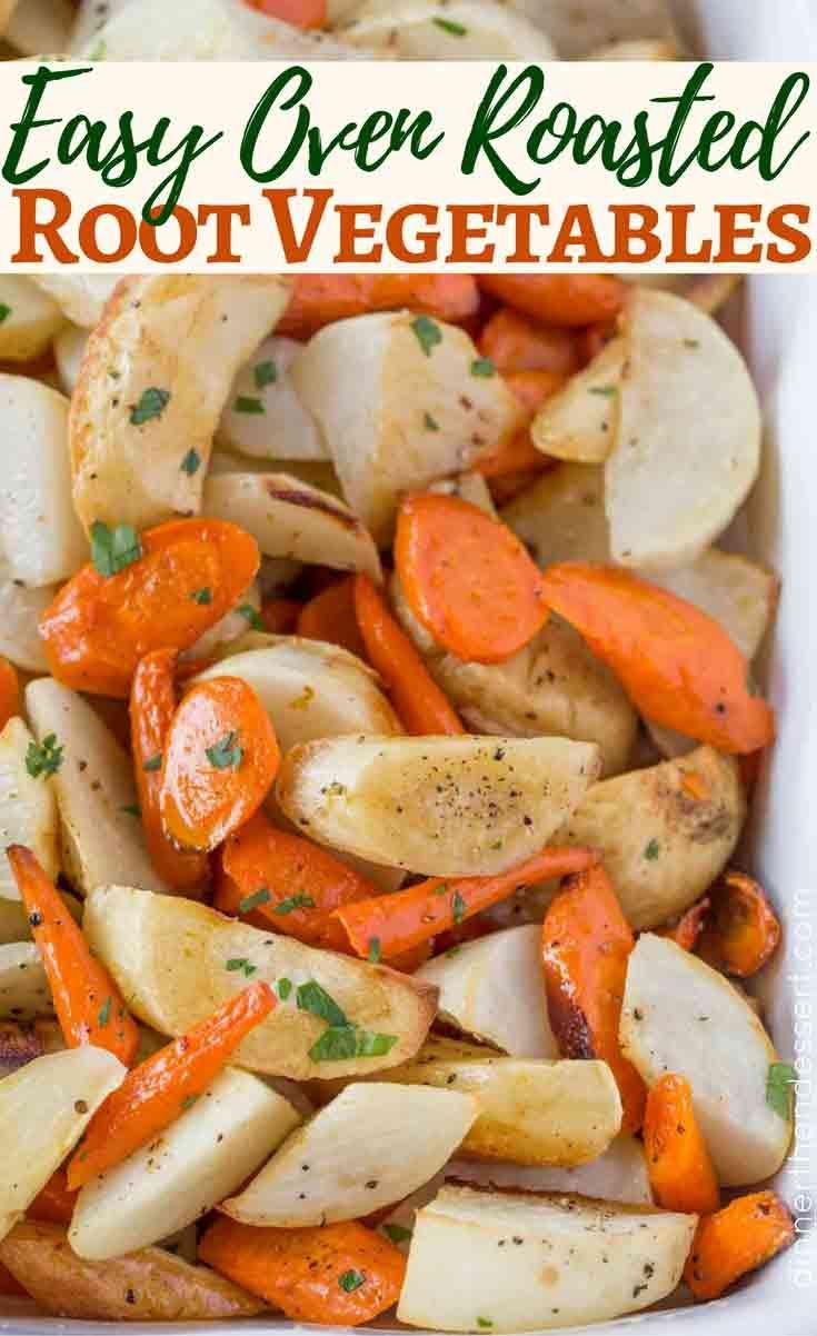 Parsnips, Turnips, Carrots and more in this easy Roasted Root Vegetable Recipe.