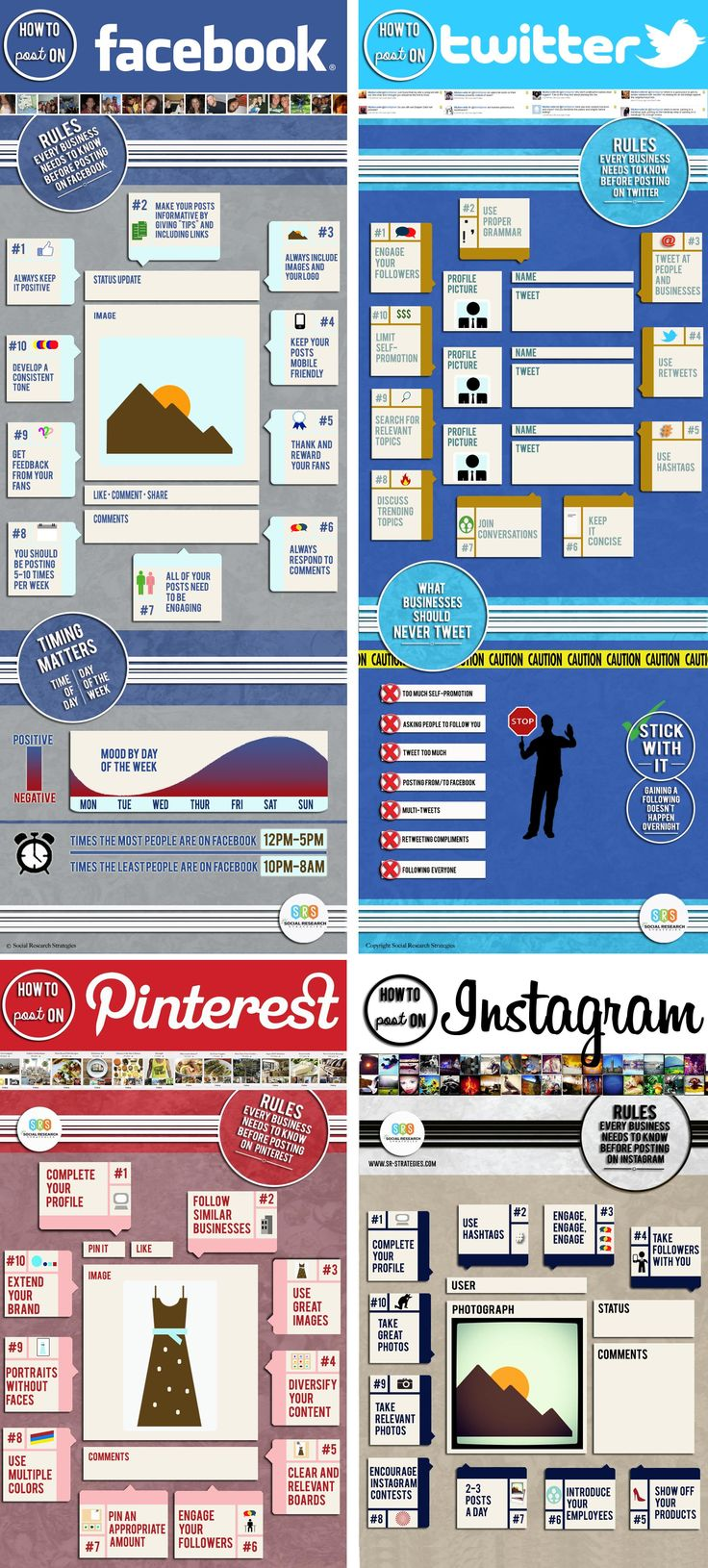 10 Rules That Every Business Needs To Know Before They Post On #Facebook, #Twitter, #Pinterest & #Instagram - #infographics #socialmedia