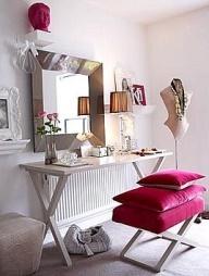 makeup station minimalist and elegant