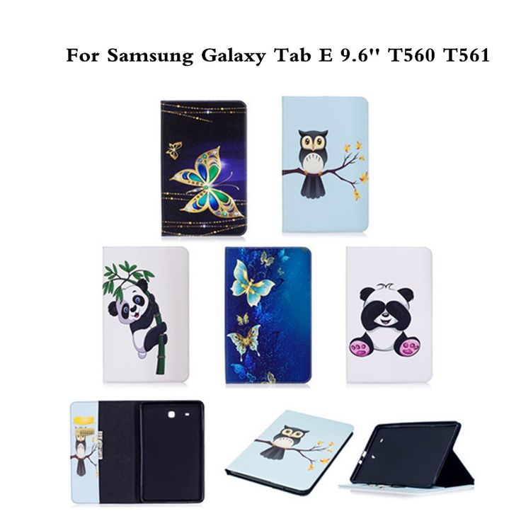 Cheap for samsung galaxy tab, Buy Quality tablet cover directly from China case for samsung tab Suppliers: Flip PU Leather Case For Samsung Galaxy Tab E 9.6 inch SM-T560 T561 T560 sm-t560 Tablet Cover Fashion Panda Butterfly Style Case