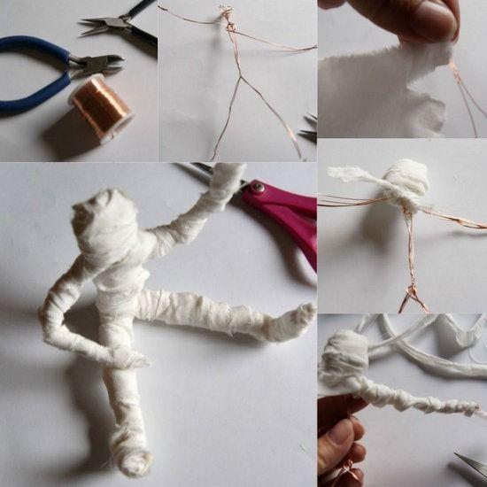Mu eco momia de alambre para halloween para entretener a - Como hacer un muneco ...