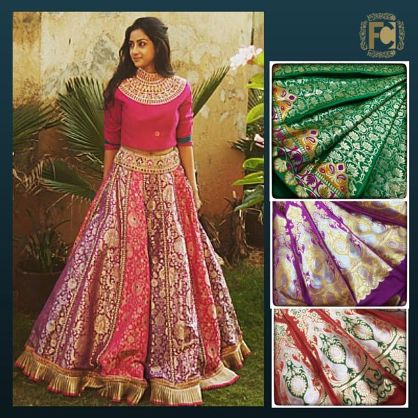 #brocade #bridallehenga #designerkali #designerfabric #weddingjitters #weddingcollection