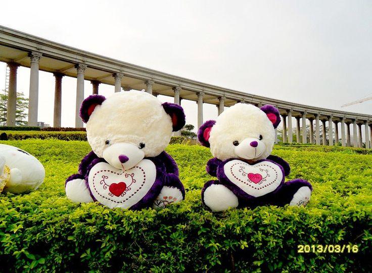 Large Teddy Bear Plush Toy Purple Doll Cute Giftat EVToys.com