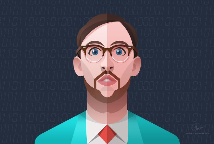 Dude - infographic element by Csaba Gyulai