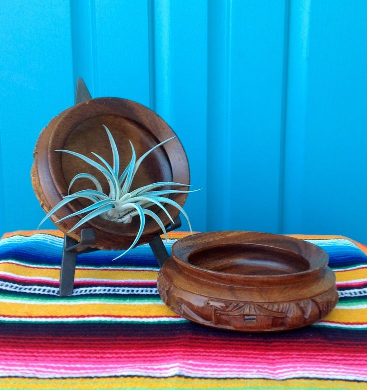 """FREE SHIPPING-Vintage """"Set of 2"""" HandCarved 6"""" Monkey Pod Bowls-Catch All Bowls-Airplant Containers-Bohemian-Tropical Decor-Barware by ellansrelics02 on Etsy https://www.etsy.com/listing/597729457/free-shipping-vintage-set-of-2"""