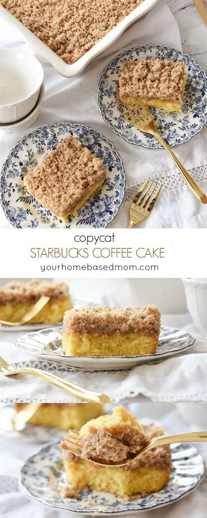 This Copycat Starbucks Coffee Cake may just be better than the real thing! It's the perfect addition to Easter Brunch or any breakfast/brunch!