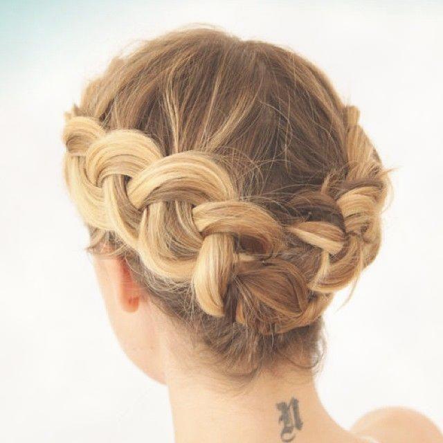 Kurze Haare Flechten Frisuren Mit Anleitung Kurze Haare Flechten