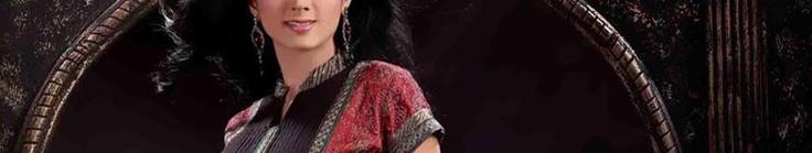 Deep Pink Art Silk Churidar Kameez with Dupatta