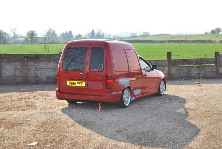 Red VW Caddy MK2 on BBS RM wheels | VW Caddy MK2 (Polo Van ...