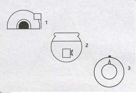 Простые логические задачи, головоломки, загадки на нестандартное мышление с картинками на время - Вид сверху или сбоку