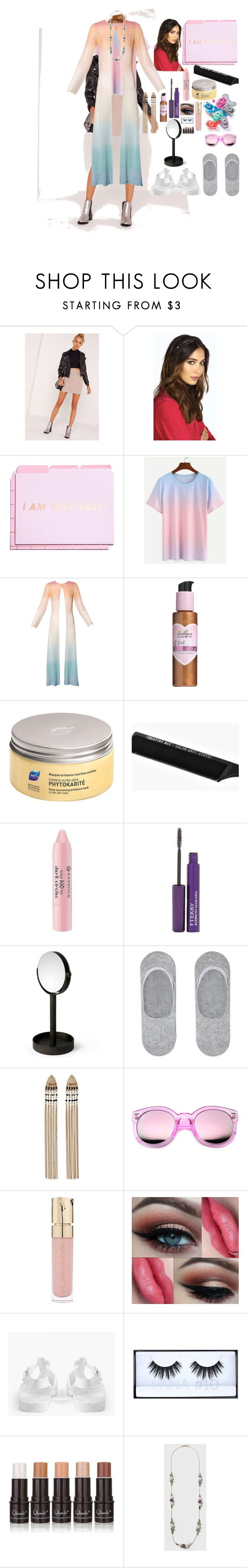 """scream queens"" by cheapchicceleb ❤ liked on Polyvore featuring Missguided, Boohoo, Louis Féraud, Million Dollar Tan, Phyto, Essence, Avon, By Terry, .wireworks and MANGO"