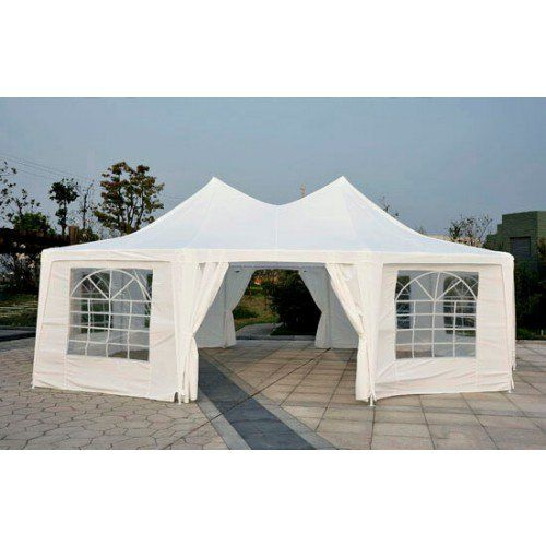 Outsunny Large Decagon 10-Wall Gazebo Party Tent