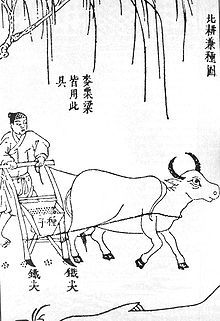Seed drill - Wikipedia, the free encyclopedia.  Chinese double-tube seed drill, published by Song Yingxing in the Tiangong Kaiwu encyclopedia of 1637.