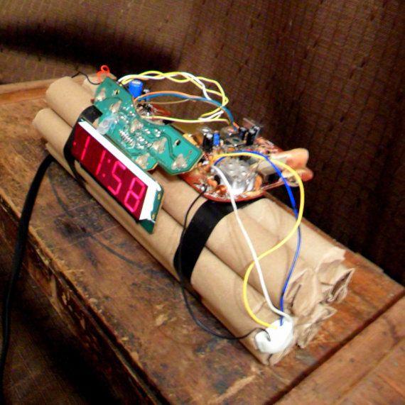 Bomb Clock by CharletWeb on Etsy, $49.99 dynamite!