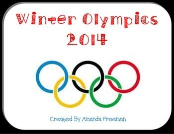 Lots of ideas to incorporate the Winter Olympics into the classroom!