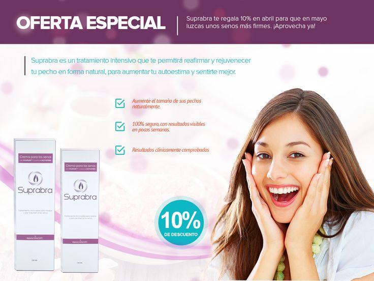 ¿Ya compraste Suprabra? Ahora con el 10% de descuento solo por el mes de abril. http://suprabra.com/comprar