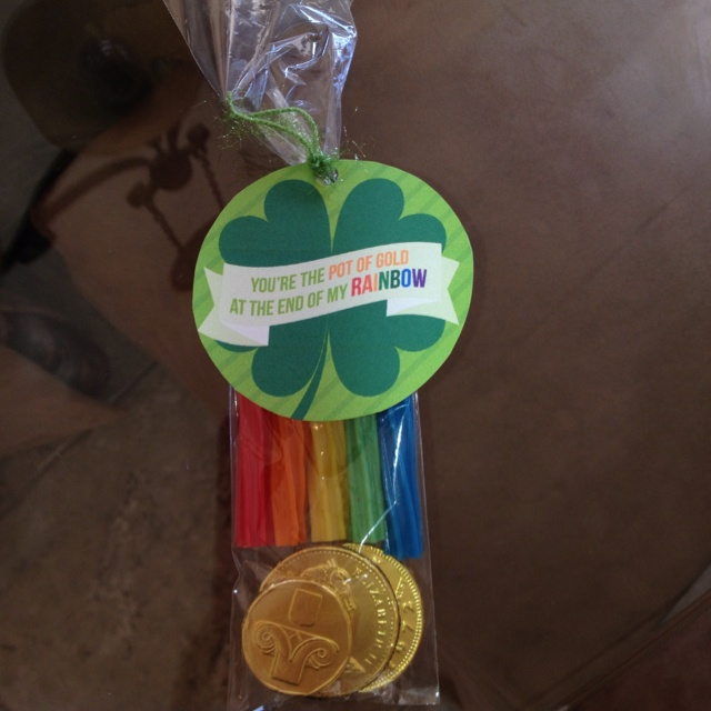 Rylies St Patricks Day treat for her preschool friends.