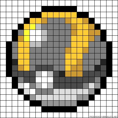Pokeball Pokemon Perler Bead Pattern