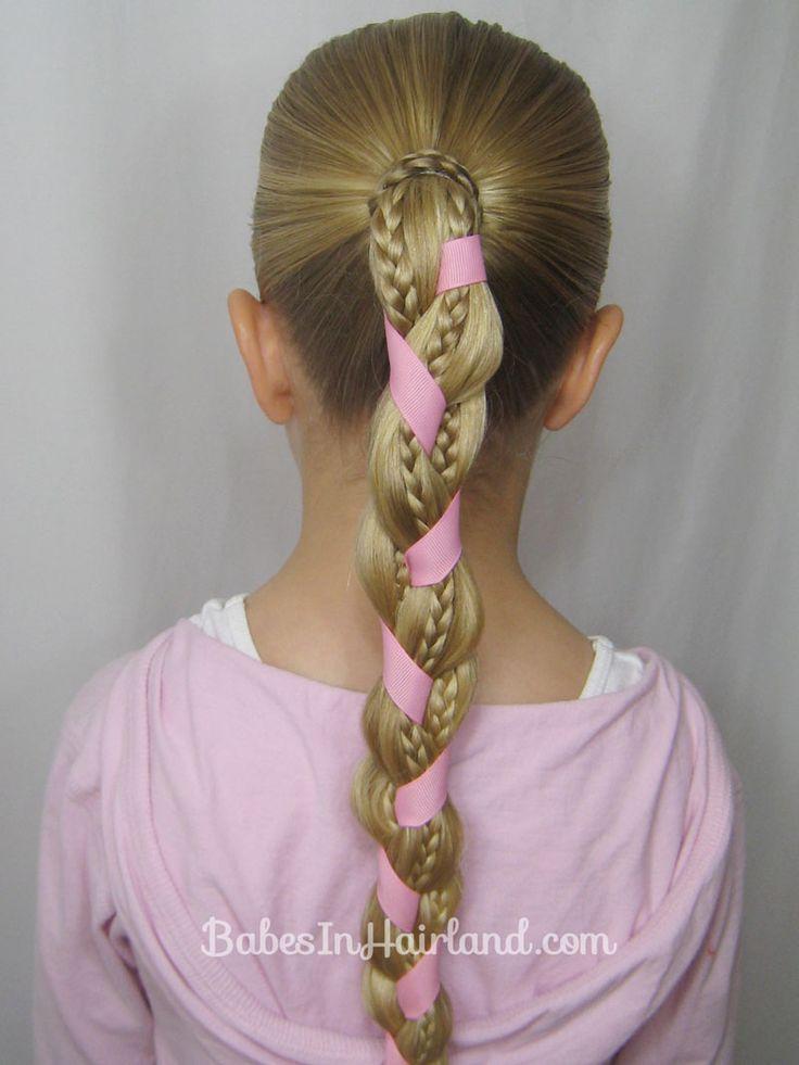Ribbon & Braids Hairstyle | BabesInHairland.com #braids #ribbon #rapunzel #hairstyle #tutorial