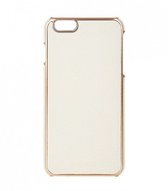 Adopted Leather iPhone 6+ Case in White/Rose Gold