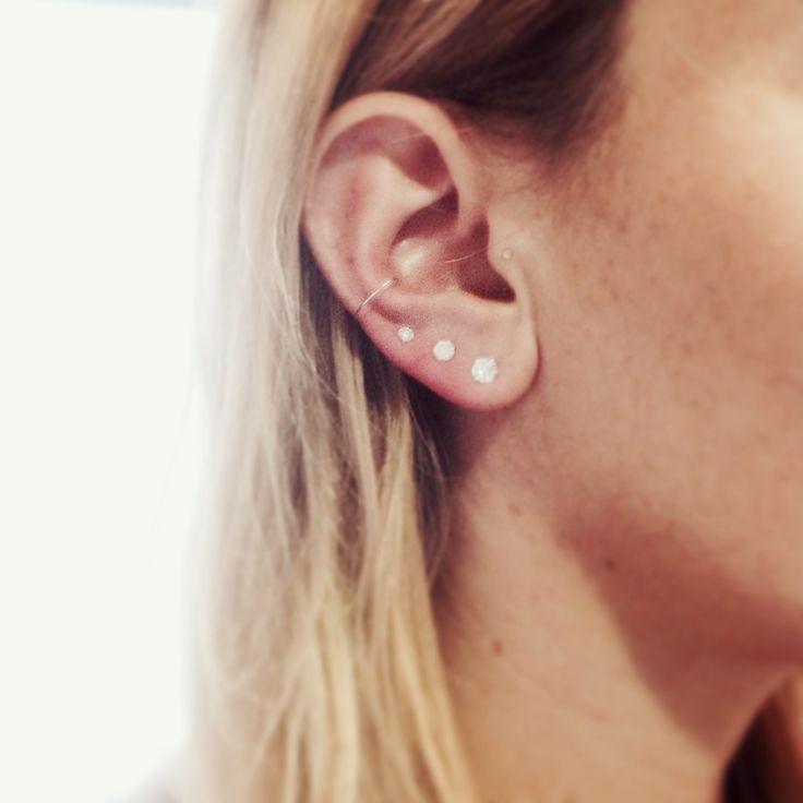 Boucle d'oreille faux piercing
