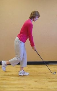 LPGA Golf Clinics for Women: Stabilize Your Golf Swing. This a good drill to help you to swing around your spine. We call it the Spine Centered set up. Simpleswingthoughts.com