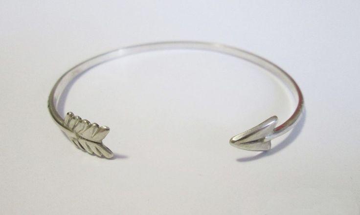 Arrow bangle #silver #funjewellery #handmade #present #arrows