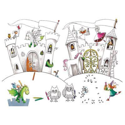 Kleur Placemats Prinses En Ridders http://www.fun-en-feest.nl/product/10032417/educ-crea-speelgoed-inkleur-placemats-prinses-en-ridder.html