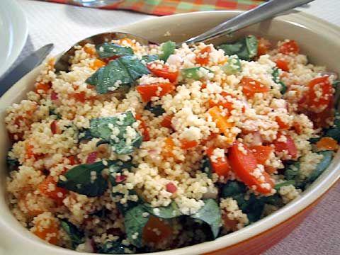 Tomato Basil Feta Couscous Salad