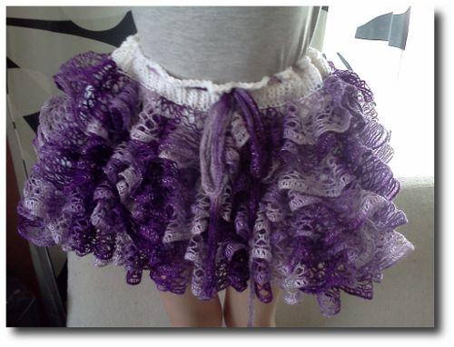 Frilly skirt made from Sashay yarn