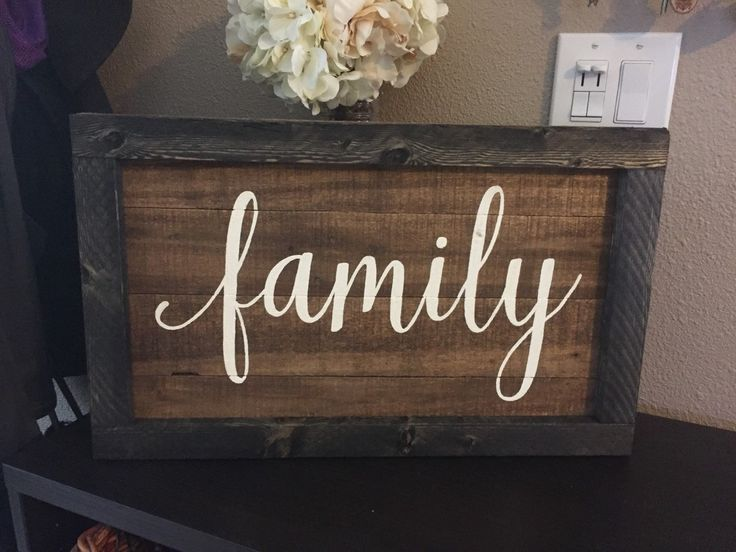 Beautiful Family Wall Sign Part - 14: Pallet Family Sign Framed Pallet Sign - Grateful Blessed Rustic Shabby Chic  Wood Art Hand Paint