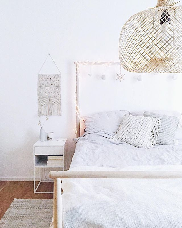 Winterliche Schlafzimmer Deko Naturlich Skandinavisch Mit Boho