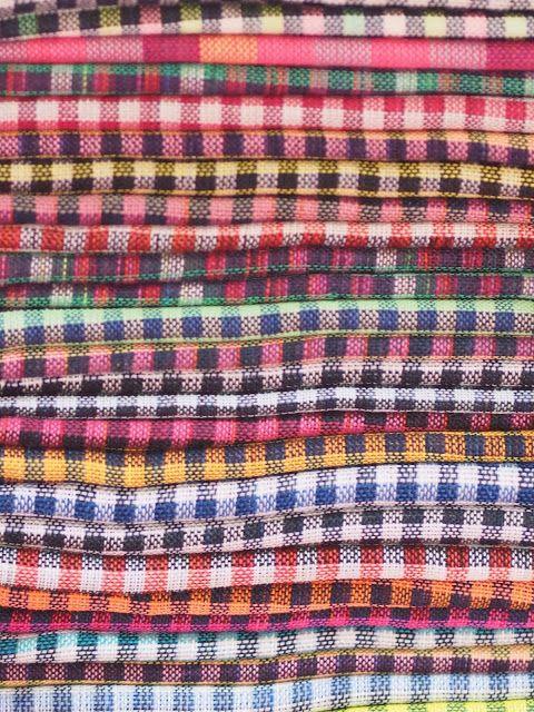 Cambodian kroma, cotton scarf.