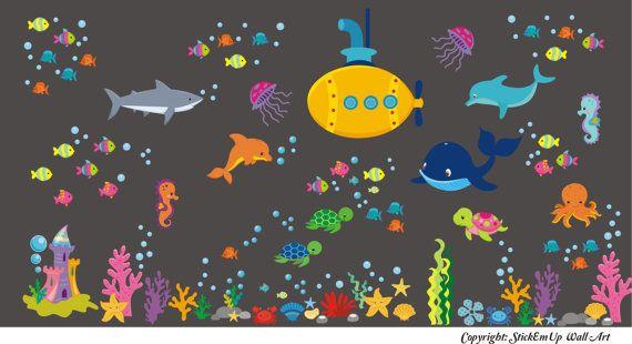 Baby Nursery Wall Decal Ocean Wall Decal. by StickEmUpWallArt
