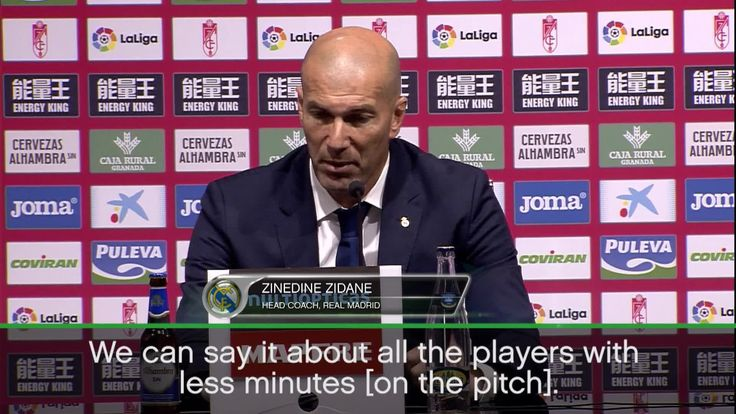 Zinedine Zidane is delighted with some his 'rotated' players after a win at Granada