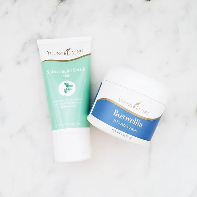 MORNING PAMPER ROUTINE!  You know those mornings where you wake up and feel extra icky? You want to have a shower but don't really have the time? This is where this combo comes in! I literally just got done doing this routine!   I wet my face, and then give it a good scrub with the Satin Mint Facial Scrub - this is SO GOOD! It's tingly, fresh and totally wakes me up! I let the scrub sit on my face for a little bit while I brush my teeth with the Thieves Aromabright Toothpaste!  Then - I…