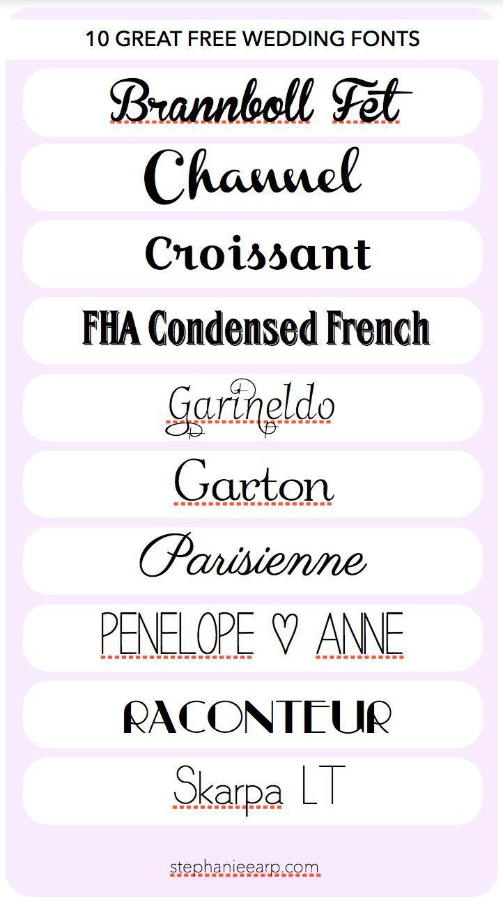 Stephanie Earp: 10 Great Free Wedding Fonts
