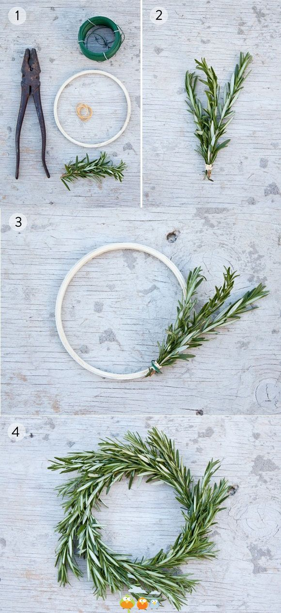 89 best Create a Herbal Christmas Wreath images on Pinterest ...