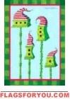 Striped Hat Birdhouse Garden Flag - 1 left