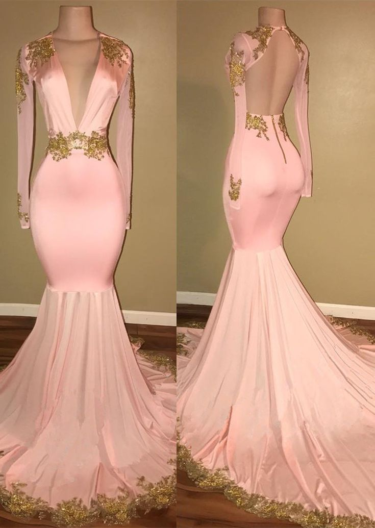 Only $169--Pink Long Sleeve Mermaid Prom Dress from 27dress.com. Free Shipping, Extra $100+ Free Coupons. Shop Now>>>