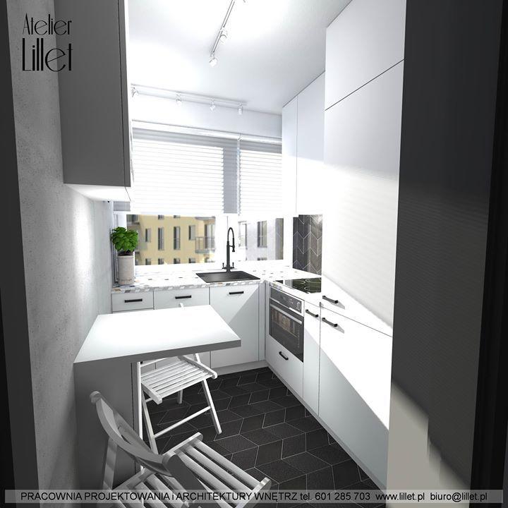 Koncepcja Małej Kuchni W Budynku Wielorodzinnym W Szczecinie