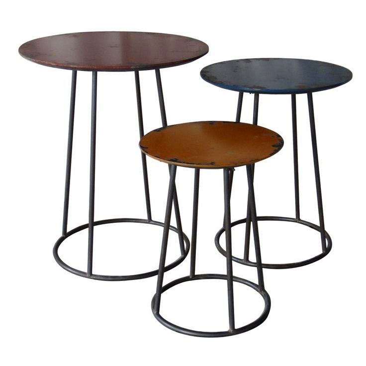 Metal End Table Set Of 3   Products   MOE'S Wholesale
