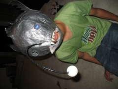 Paper Mache Angler Fish MaskAnglerfish Masks, Halloween Costumes
