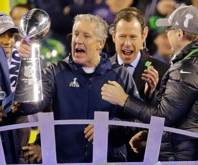 Pete Carroll, coach of Seattle Sehawks, Super Bowl champs 2014!