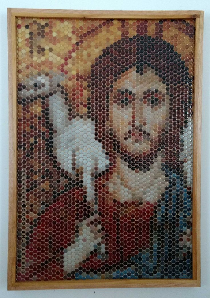 Christ the Good Shepherd Mosaic size: 3'x4' Made of  3/4' rounded tiles