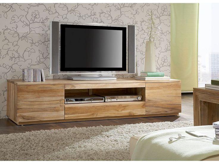 Impressionnant meuble tv en bois d coration fran aise for Meuble tv pinterest
