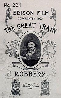 """""""L'attaque du grand rapide"""" realise par Edwin S. Porter en 1903 est le premier western de l'histoire du cinema."""